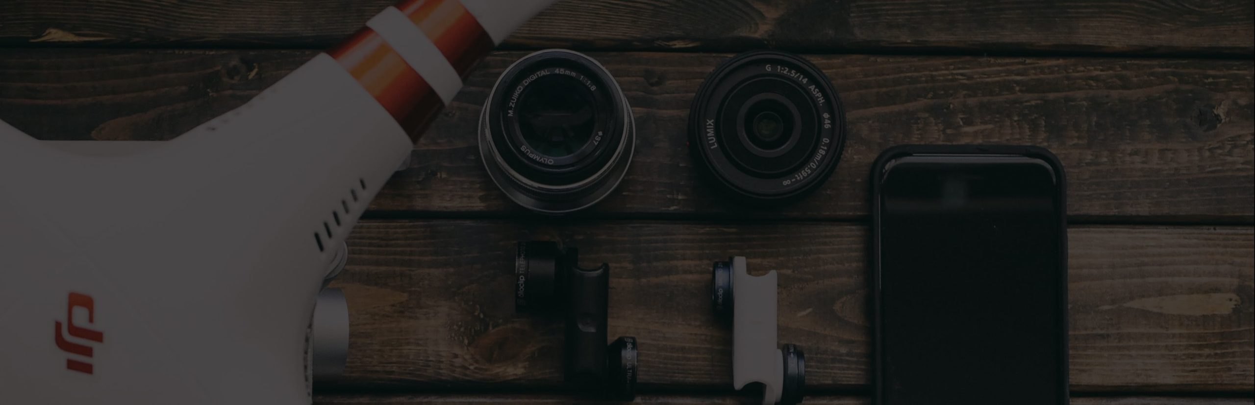 Drone and lenses