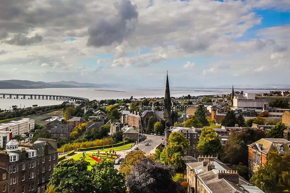 Dundee city panorama
