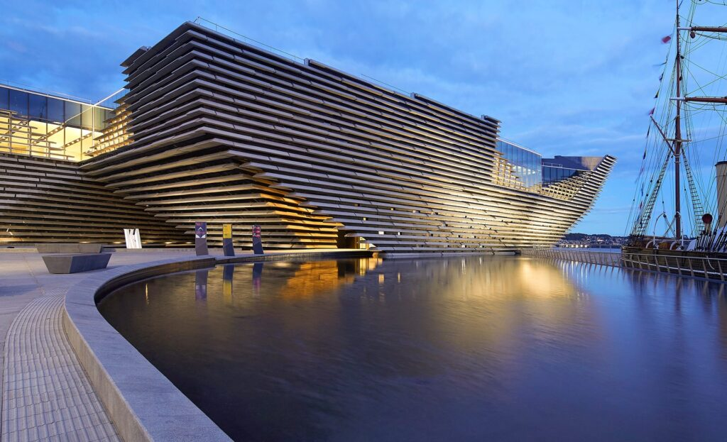 V&A Dundee at dusk